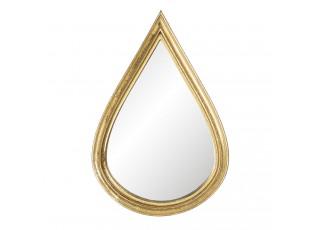 Nástěnné zrcadlo se zlatým rámem ve tvaru kapky - 12*1*18 cm