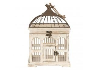 Dřevěná vintage dekorační ptačí klec - 26*19*38 cm