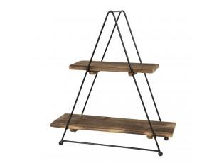 Retro etažér s dřevěnými poličkami - 32*14*42 cm