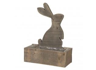 Dřevěný truhlík s králíčkem a patinou Eves - 30*13*39 cm