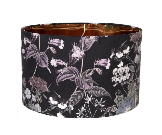 Květinové textilní stínidlo k lampě Cigogne – Ø 45*28 cm