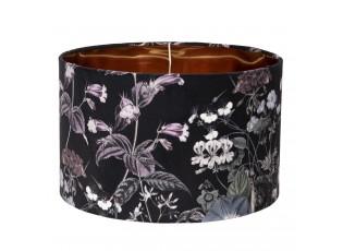 Textilní stínidlo na lampu s květinami Cigogne – Ø 35*22 cm