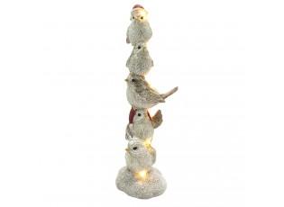 Dekorace ptáčků s Led světýlky - 7*7*21 cm