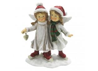 Dekorační andělé na bruslích - 11*6*14 cm