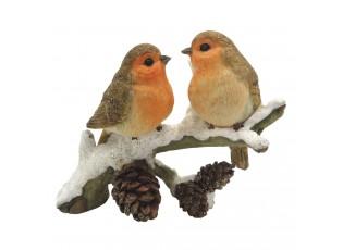 Dekorace ptáčků na větvičce - 11*6*10 cm