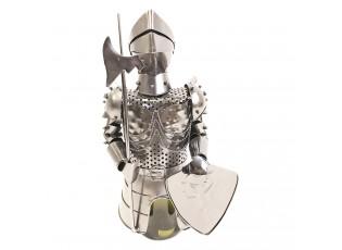Stříbrný stojan na láhev vína v designu rytíře Chevalier - 17*15*32 cm