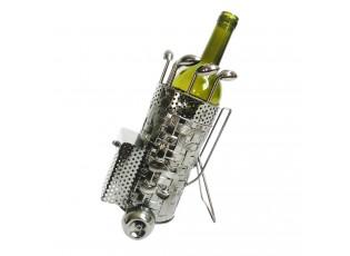 Kovový držák na víno v designu golfového bagu Chevalier - 20*13*24 cm