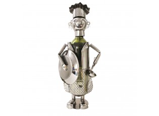 Držák na láhev vína v designu kuchaře Chevalier - 16*12*28 cm