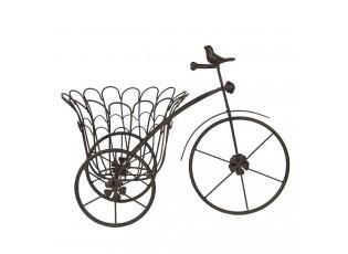 Kovová dekorační tříkolka na květináč - 44*24*32 cm