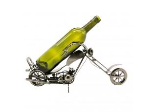 Držák na láhev vína v designu motorky - 43*13*19 cm