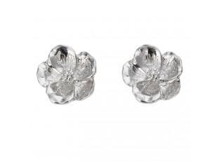 Stříbrné peckovité náušnice ve tvaru květin