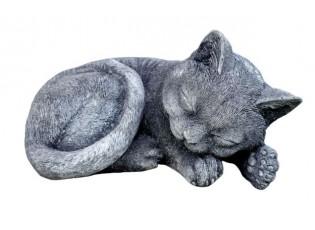 Zahradní betonová dekorace spící kočka - 20*15*8 cm