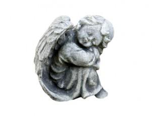 Zahradní dekorace sedící anděl - 12*13*14cm