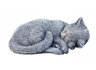 Zahradní betonová dekorace spící kočka - 26*21*11 cm