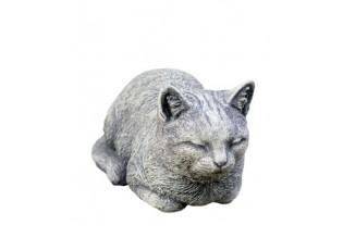 Zahradní betonová dekorace ležící kočka - 17*31*18 cm