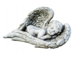 Zahraní dekorace Ležící anděl - 15*28*14cm