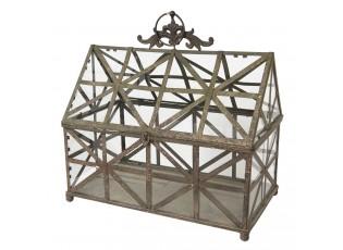 Dekorace retro skleník Vinie - 50*30*51 cm