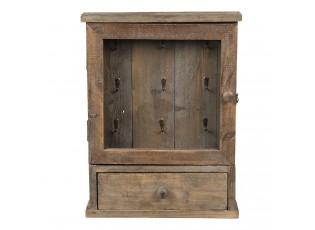 Dřevěná retro skříňka na klíče - 36*9*47 cm