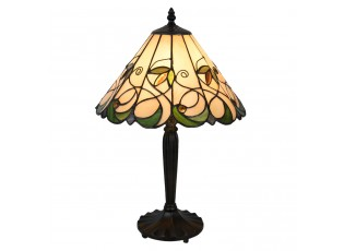 Stolní lampa Tiffany Happy Green - Ø 31*48 cm E27/max 1*60W