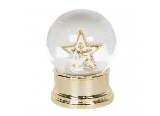 Malé zlaté sněžítko s hvězdou – Ø 4*6 cm