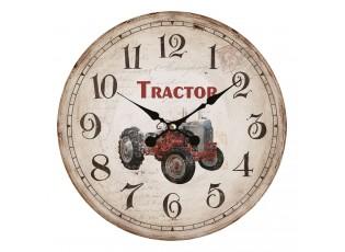 Nástěnné hodiny ve vintage stylu Tractor – Ø 34*1 cm / 1*AA
