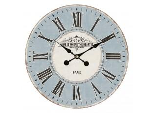 Modré nástěnné hodiny s římskými číslicemi Paris – Ø 34*4 cm / 1*AA