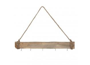 Dřevěný nástěnný retro věšák - 60*7cm