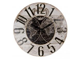 Nástěnné hodiny ve vintage stylu The World – Ø 34*1 cm / 1*AA