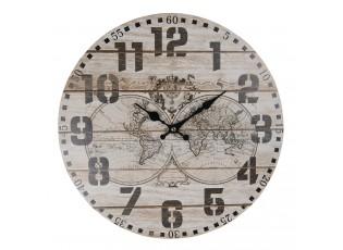 Nástěnné hodiny The World s patinou – Ø 34*1 cm / 1*AA