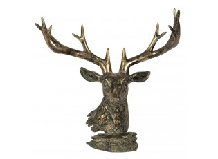 Hnědo-bronzová stojací dekorace jelen - 42*20*41 cm