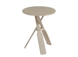 Béžový dřevěný odkládací stolek s pádly Paddles - Ø 45*56cm