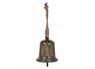 Dekorační kovový zvonek s patinou - Ø 16*16 cm