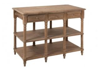 Dřevěný konzolový stolek se šuplíky přírodní Drowy - 131*70*95 cm