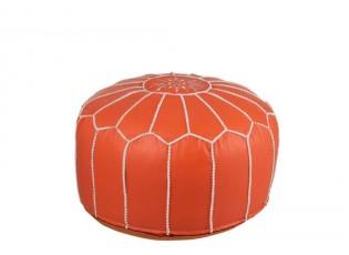 Oranžový puf African - Ø 52*45 cm
