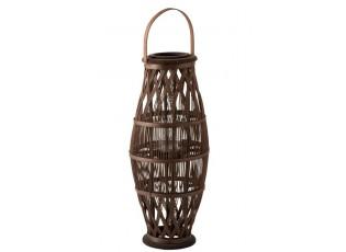 Vysoká hnědá bambusová lucerna Bamboo - Ø 29*70 cm