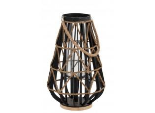 Černá bambusová lucerna Bamboo - Ø 35*56cm