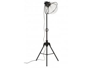 Černá kovová retro stojací lampa Tripod - 55*52*180cm