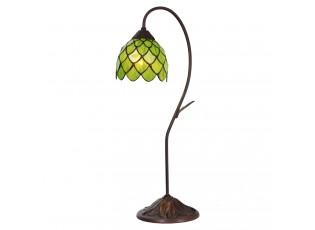Vitrážová stolní lampa Tiffan Fleuron – Ø 28*60 cm E14/max 1*40W
