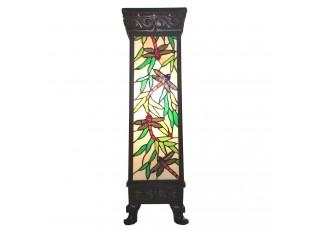 Světelný sloup Tiffany Dragonfly - 26*26*71 cm E27/max 1*100W