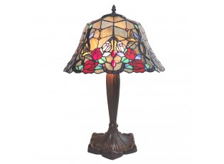 Stolní lampa Tiffany Veronique – Ø 42*58 cm E27/max 2*60W