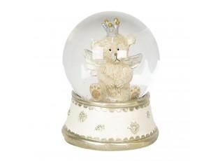 Sněžítko s medvídkem s křídly – Ø 6*8 cm