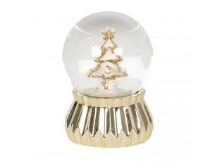 Malé zlaté sněžítko se sněhulákem – Ø 4*6 cm