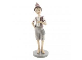 Dekorace stojící Pinocchio s kabelou - 11*9*30 cm