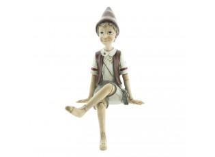 Dekorace sedící Pinocchio - 13*12*23 cm