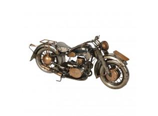 Kovový retro model zlato-měděné motorky - 32*11*14 cm