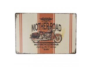 Nástěnná kovová cedule Mother Road - 30*20 cm