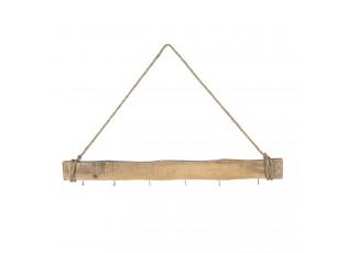 Dřevěný nástěnný retro věšák - 77*7 cm