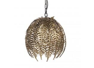 Zlaté závěsné světlo s listy – Ø 45*41 cm