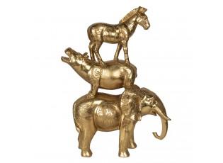 Zlatá dekorace zvířat - 30*12*40 cm