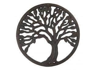 Litinová podložka pod hrnec se stromem - Ø 21 cm